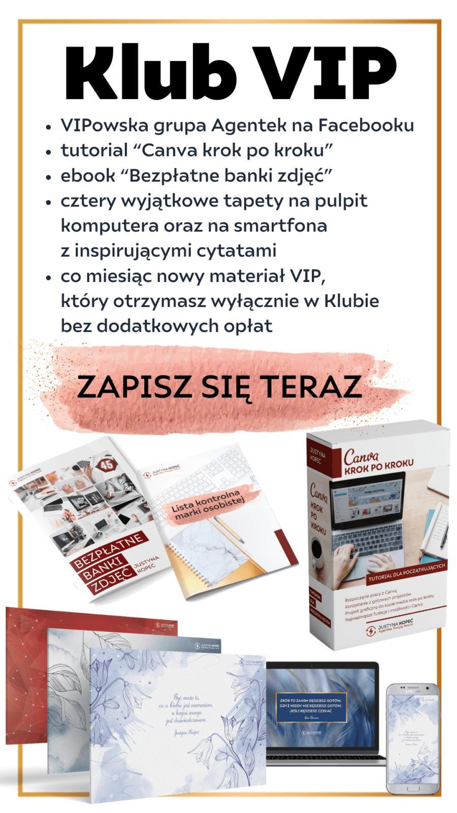 Justyna Kopeć marka osobista klub vip
