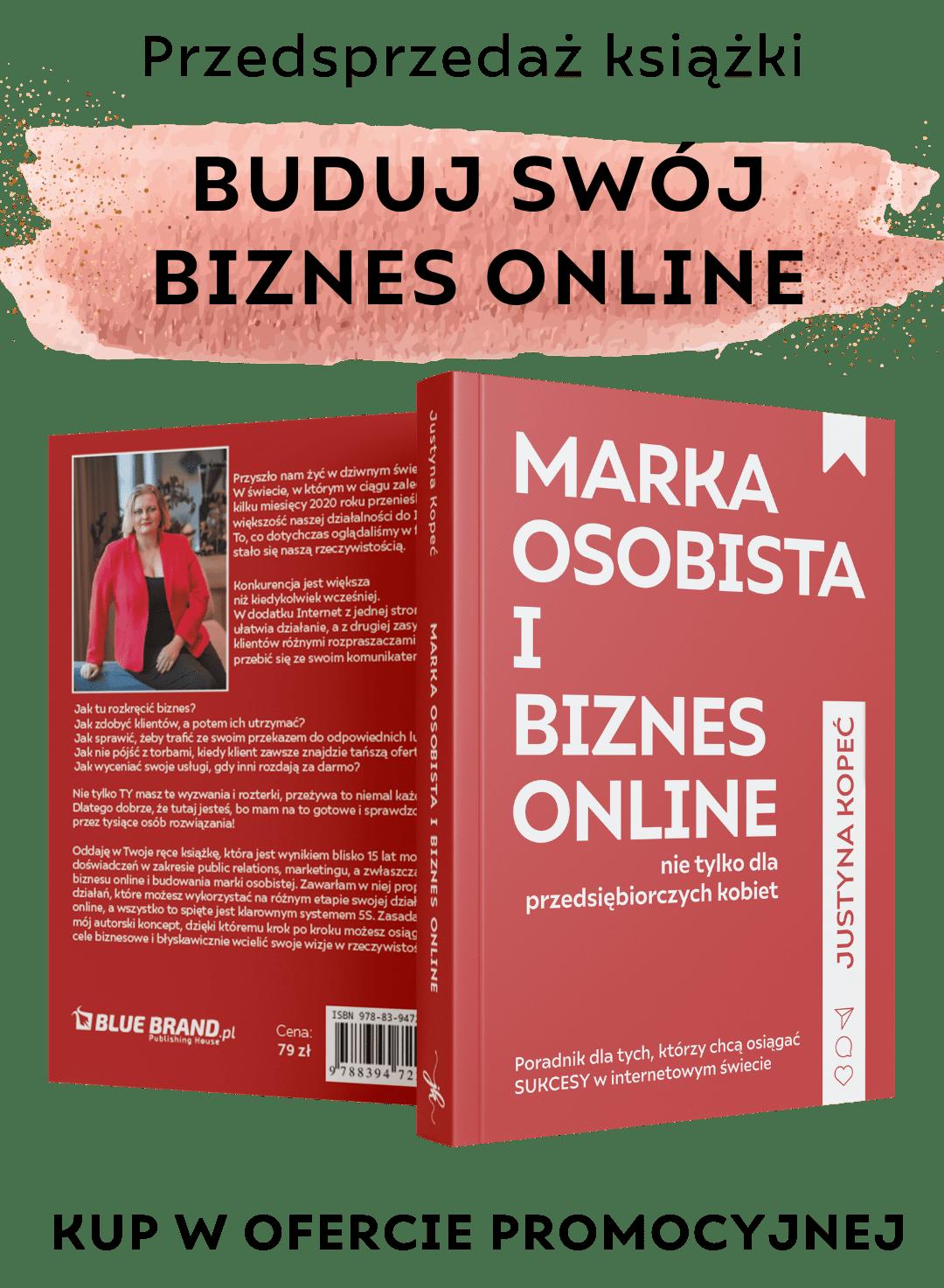 Justyna Kopeć marka osobista wbiznes online książka
